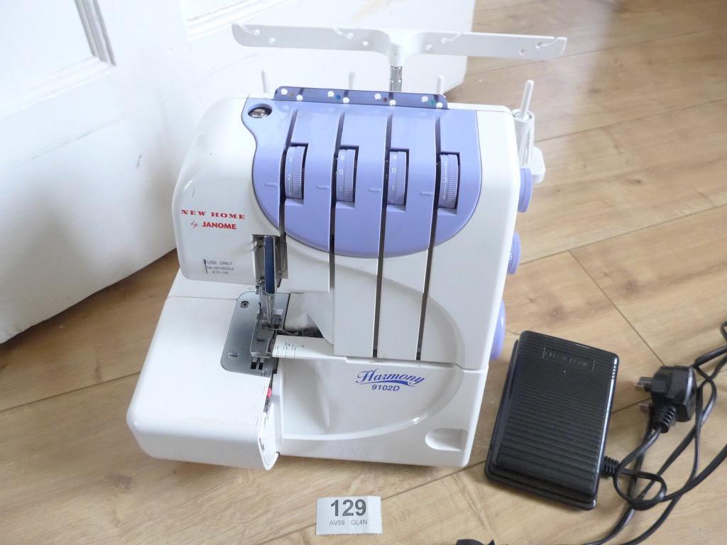 sewing machine with overlocker