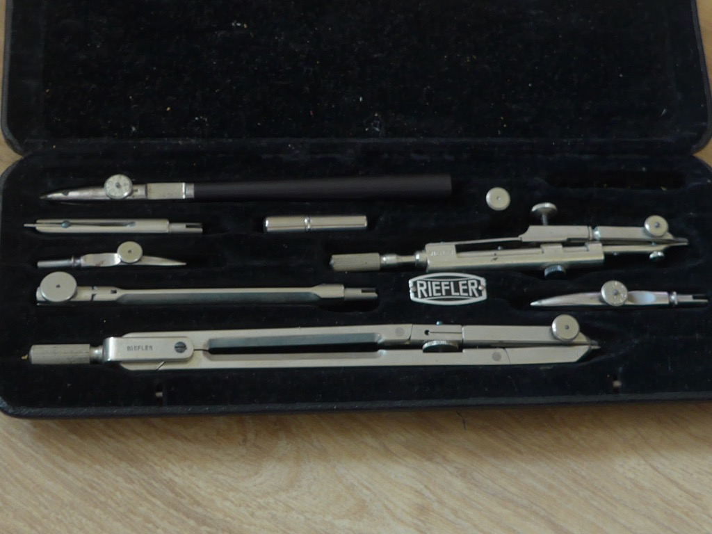 riefler germany tools drawing drafting set drawing instruments ebay. Black Bedroom Furniture Sets. Home Design Ideas