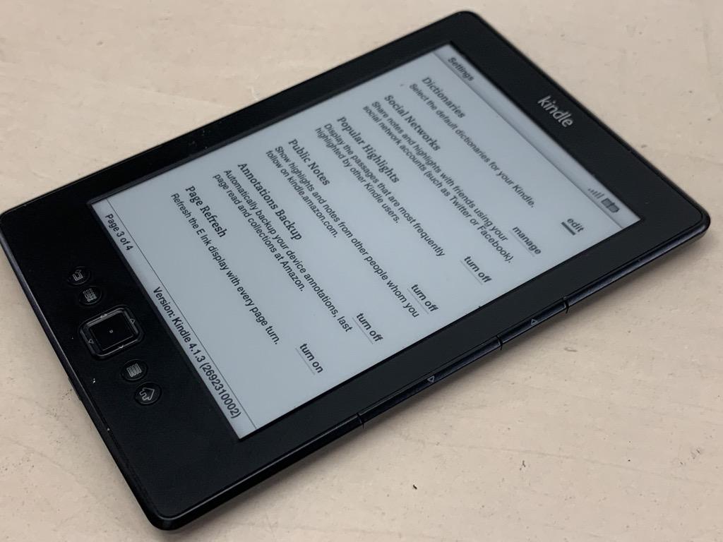 Amazon Kindle D01100 Ebook Reader 4th Generation Ebay