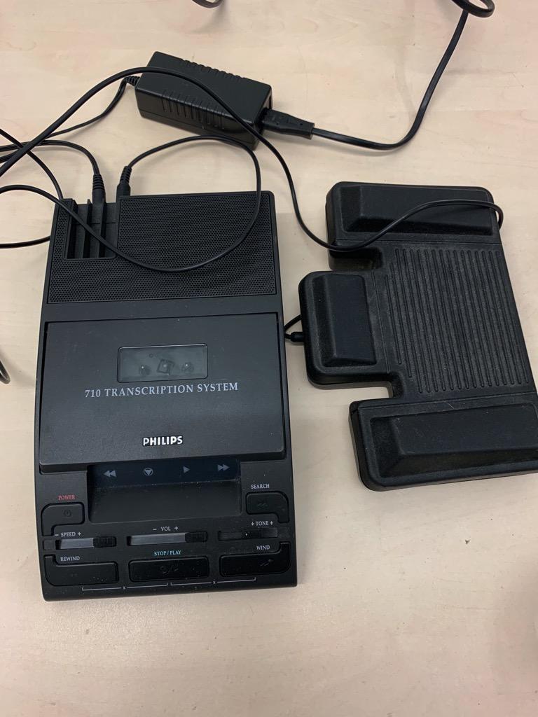 Philips LFH 710 Mini Cassette Transcription Dictation Machine 6 months warranty